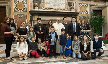 2014  El Santo Padre recibe a los fieles sirios de Antioquía